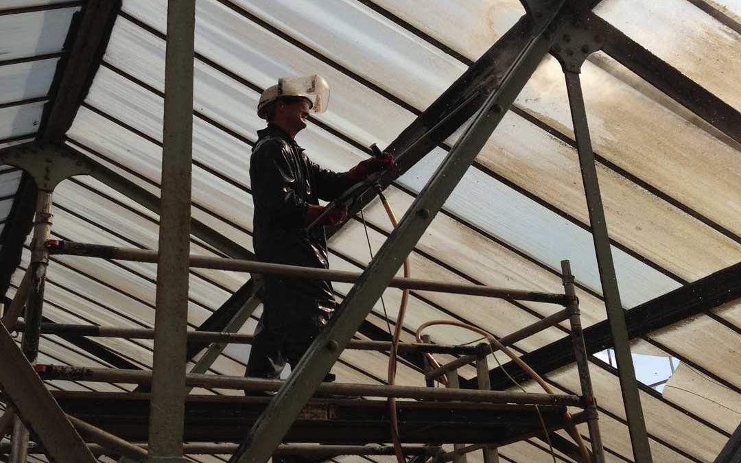 Surface Preparation of Steel Girders for Painting